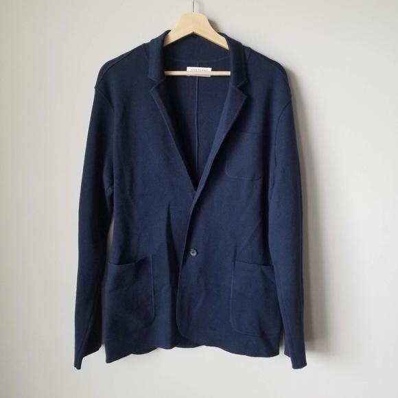 Everlane Other - Everlane Men's Blue Cardigan Sweater Pockets Sz M